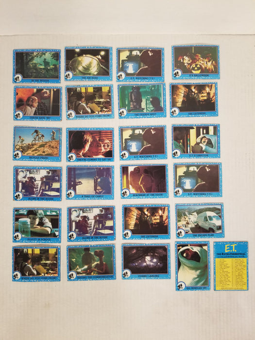 E.T. Collectors Cards, Set of 24