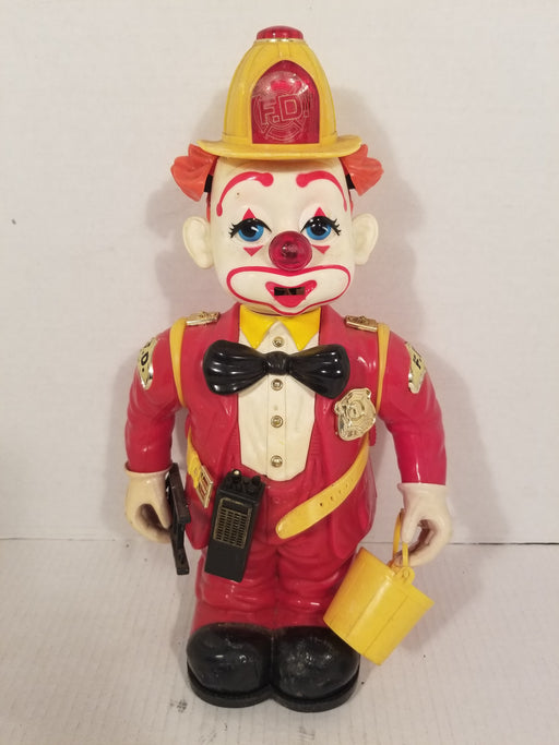 Walking Clown Fireman Robot