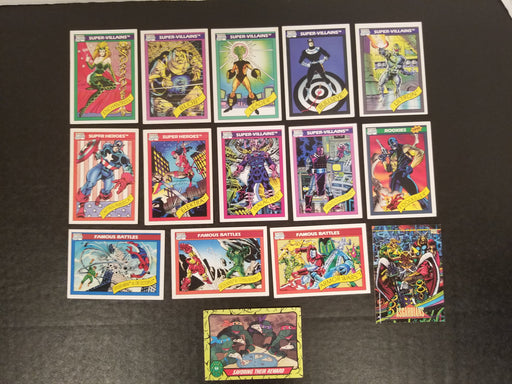 Lot of 15 Marvell 90's Trading Cards