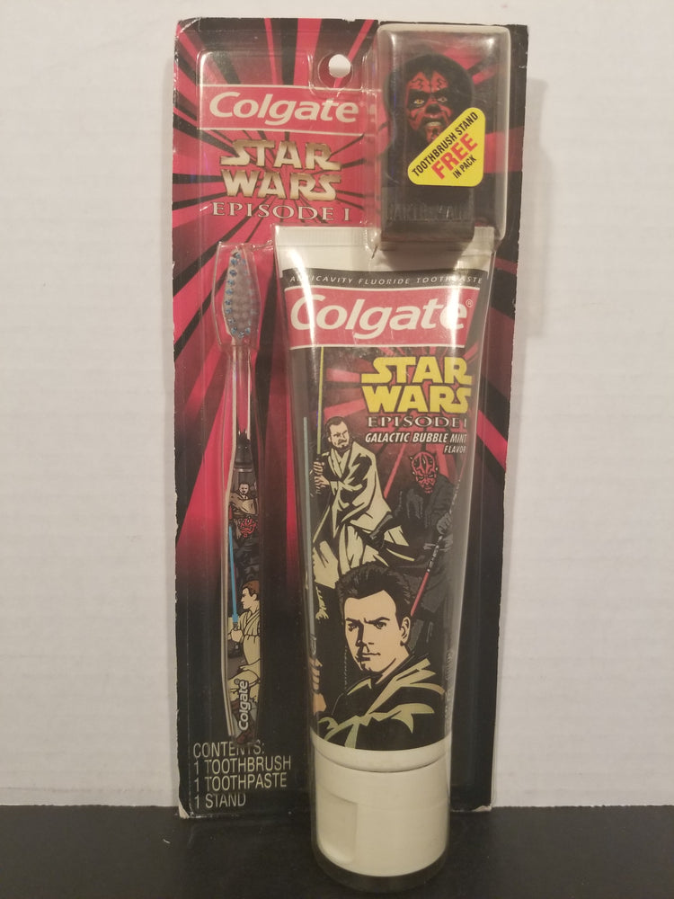 Star Wars Colgate Toothbrush/Paste with Darth Maul Stand