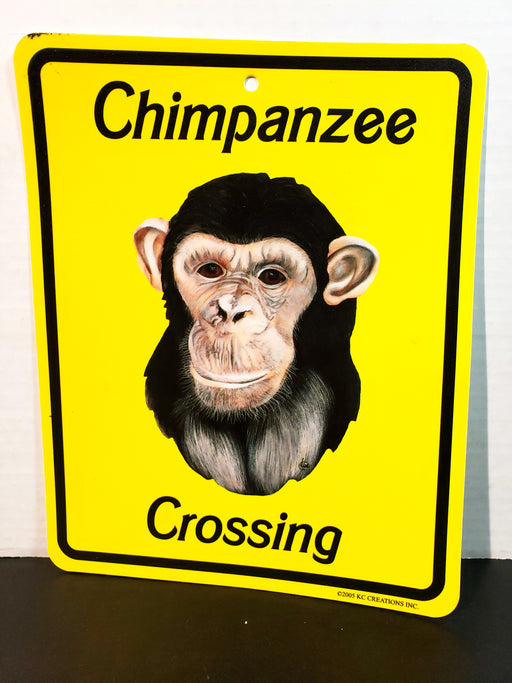 Chimpanzee Crossing Sign