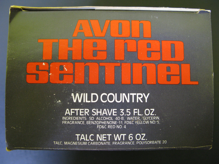 Vintage Avon The Red Sentinel - Wild Country After Shave and Talc