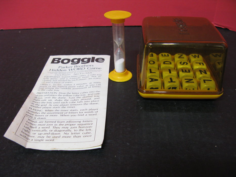 Boggle Word Game, Zoo Animals Book, and Wooden Sign