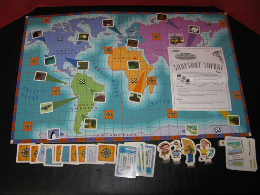 1999 The Wild Thornberrys Snapshot Safari Board Game