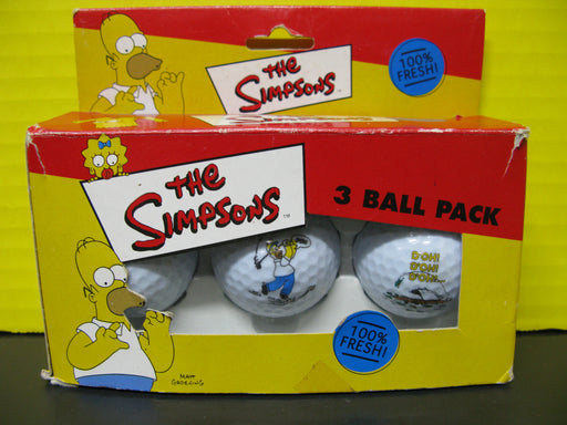 The Simpsons 3 Pack Golf Ball Set