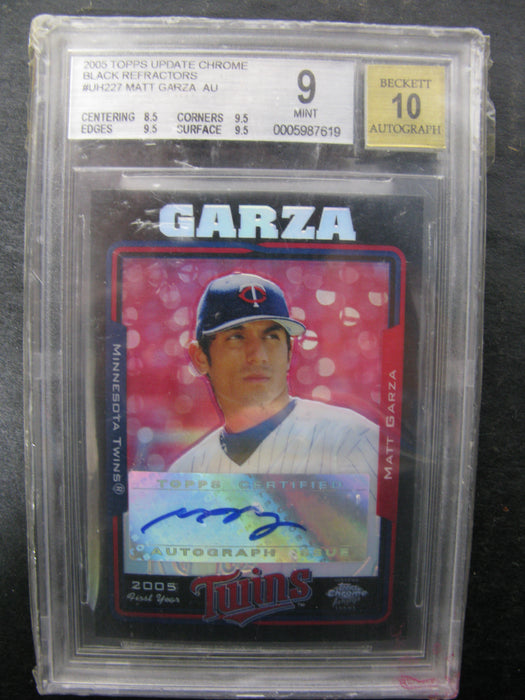 Rookie Card Matt Garza 2005 Topps Update Chrome