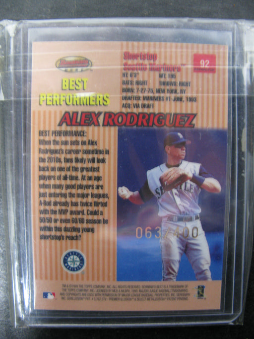 1999 Bowman's Best Alex Rodriguez #92 Card