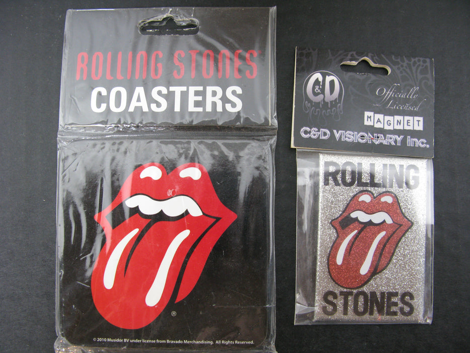 Rolling Stones Coasters and Magnet