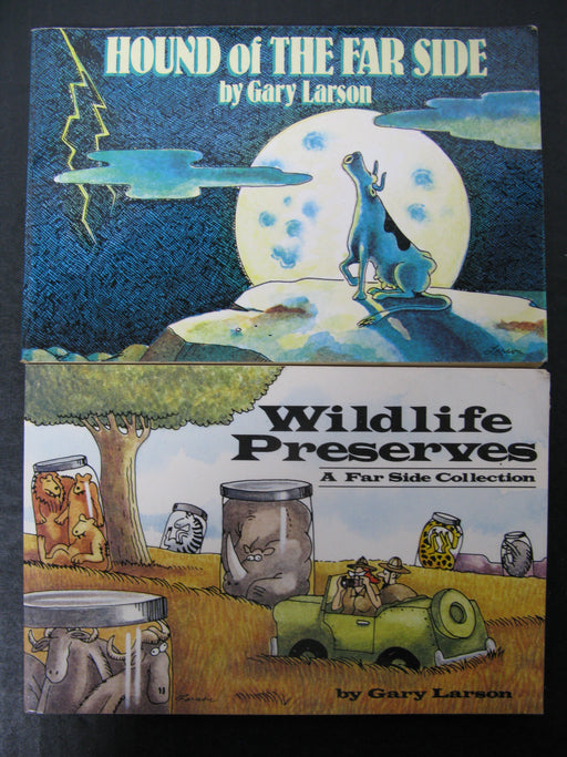 Wildlife Preserves and Hound of the Far Side by Gary Larson