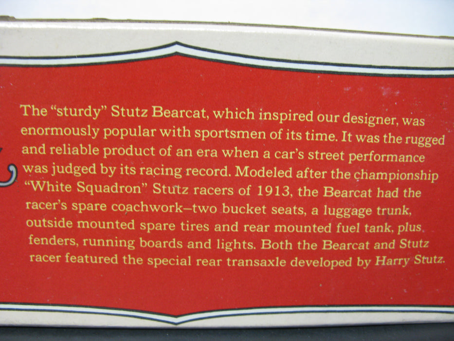 Avon Stutz BearCat 1914 - Oland After Shave