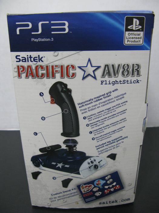 PS3 Saitek Pacific AV8R Flightstick