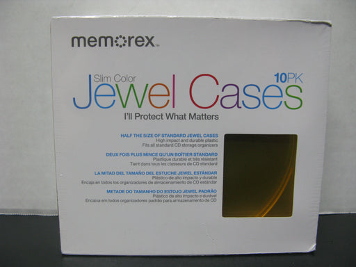 Memorex Slim Color Jewel Cases 10pk