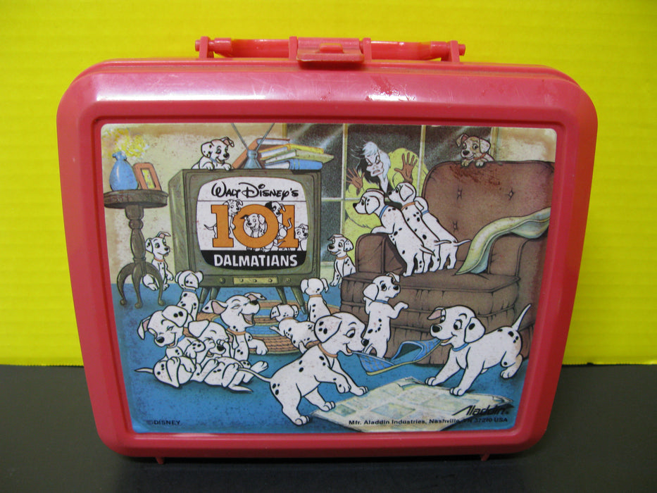 Walt Disney's 101 Dalmatians Plastic Lunchbox and Thermos