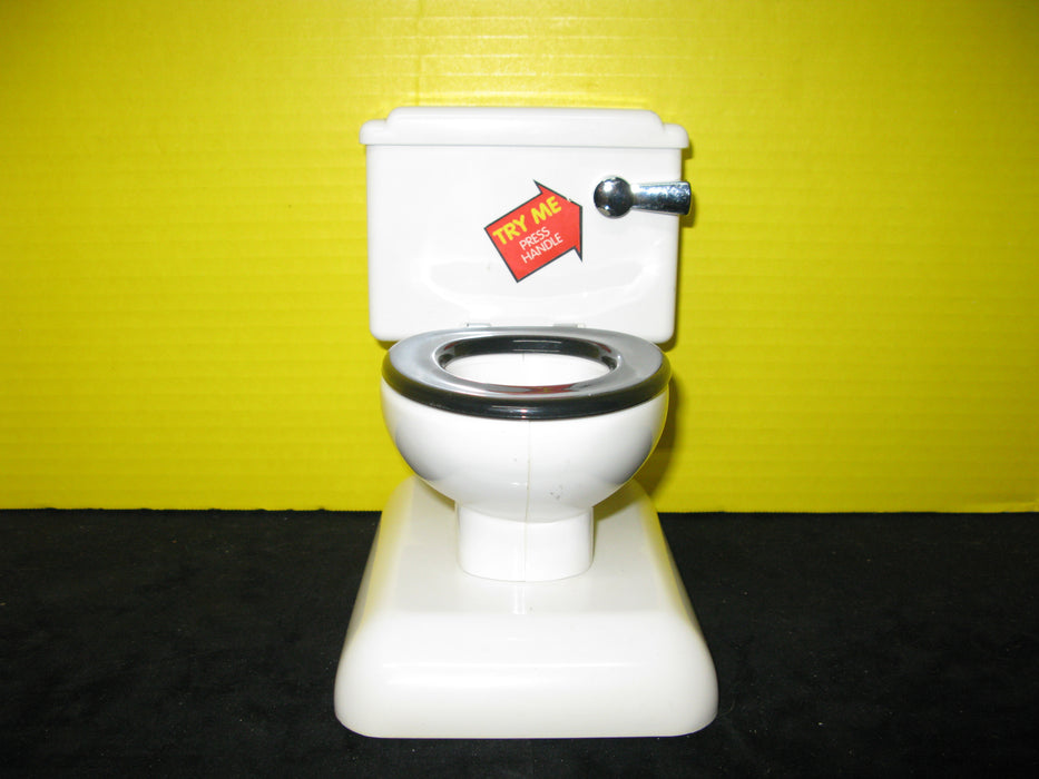 Miniature Flushing Toilet Toy