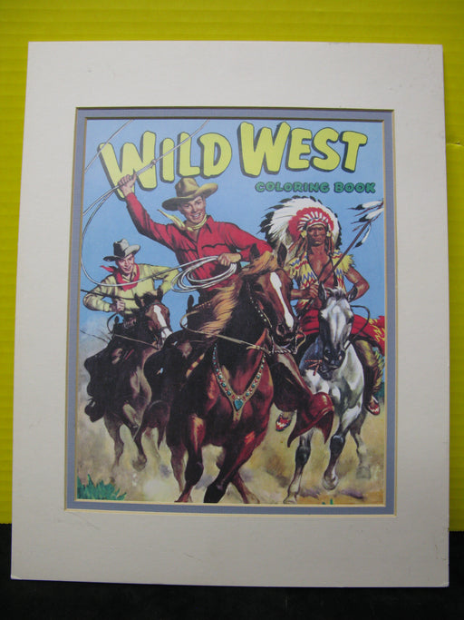 Wild West Coloring Book Framed Cover Art