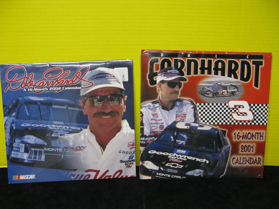 Dale Earnhardt 2001 and 2002 Calendars