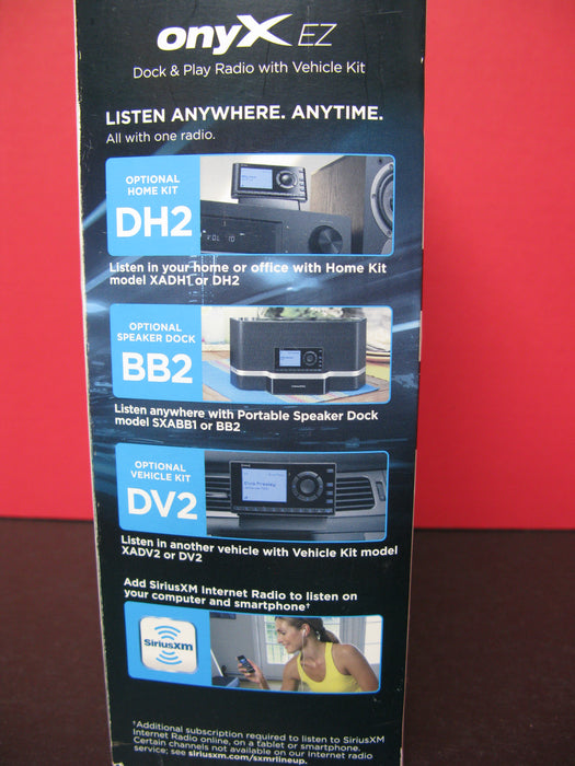 Sirius XM Satellite Radio OnyX EZ Dock and Play Radio