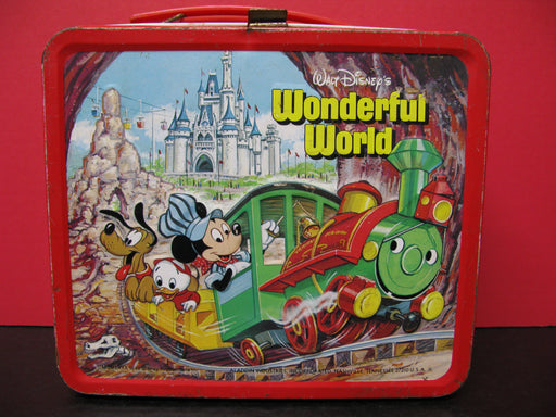 Walt Disney's Wonderful World Vintage Lunch Box with Drink Holder
