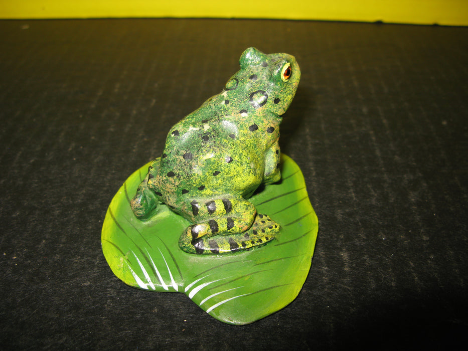 Small Decorative Frog on Lily Pad