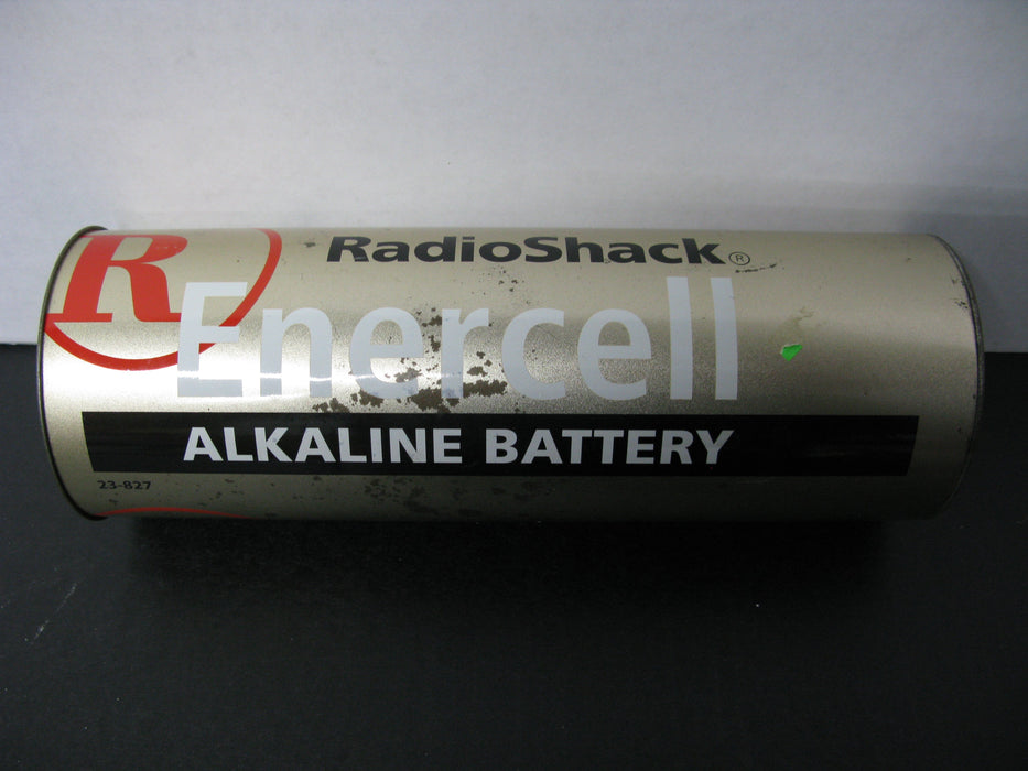Vintage Radio Shack Alkaline AA Enercell Battery Coin Bank 12""