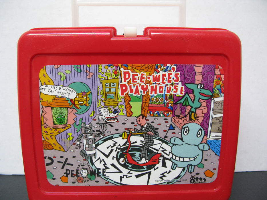 Pee-Wee's Playhouse and Jetsons the Movie Plastic Lunchboxes