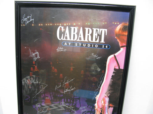 Framed and Signed Cabaret At Studio 54 Poster