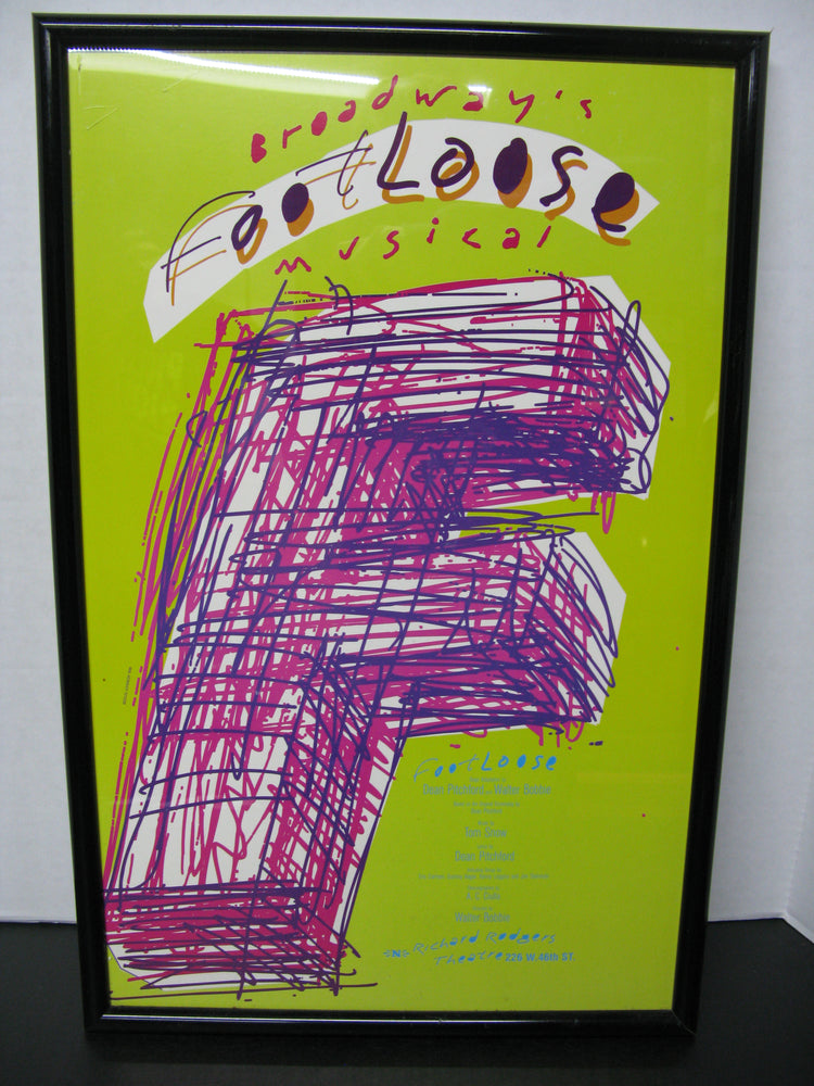 Framed Broadway's Footloose Musical Poster