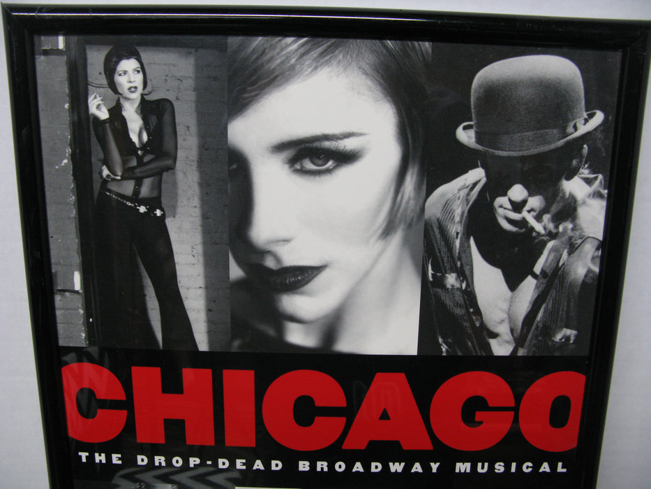 Framed Chicago The Drop-Dead Broadway Musical Poster
