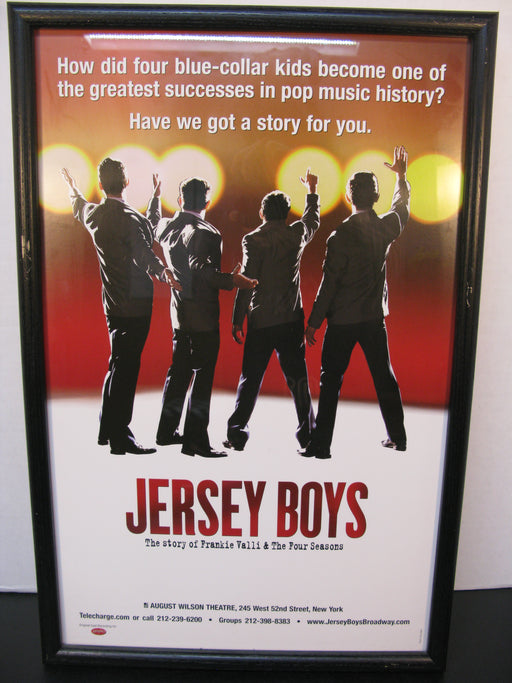 Framed Jersey Boys Poster