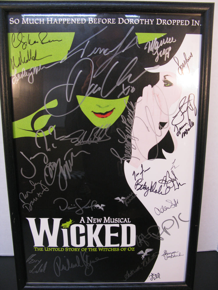 Framed and Signed A New Musical Wicked Poster