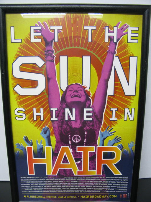 Framed Let the Sun Shine in Hair Poster