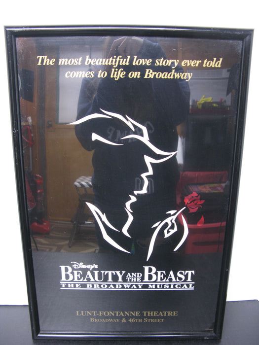 Framed Disney's Beauty and the Beast the Broadway Musical Poster
