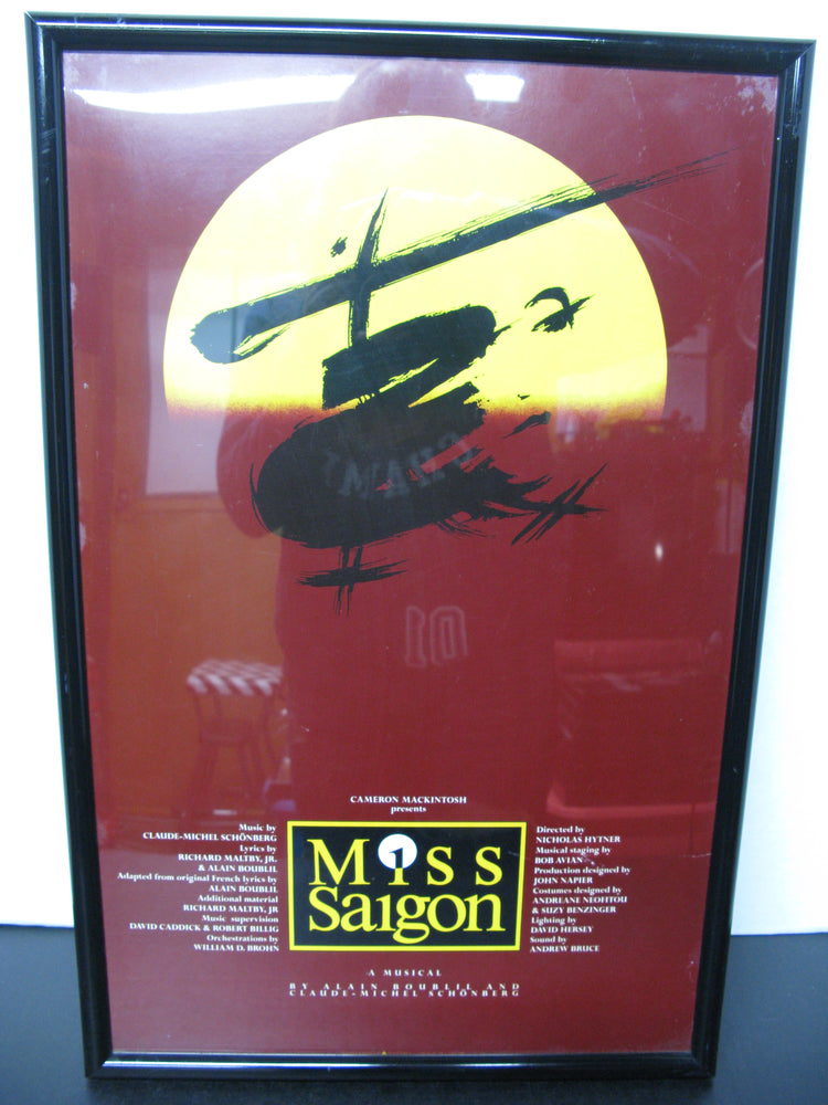 Framed Miss Saigon A Musical Poster