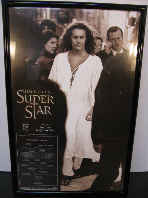 Framed Jesus Christ Super Star Poster