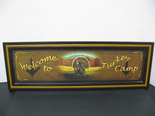 """Welcome to Turkey Camp"" Wooden Sign"