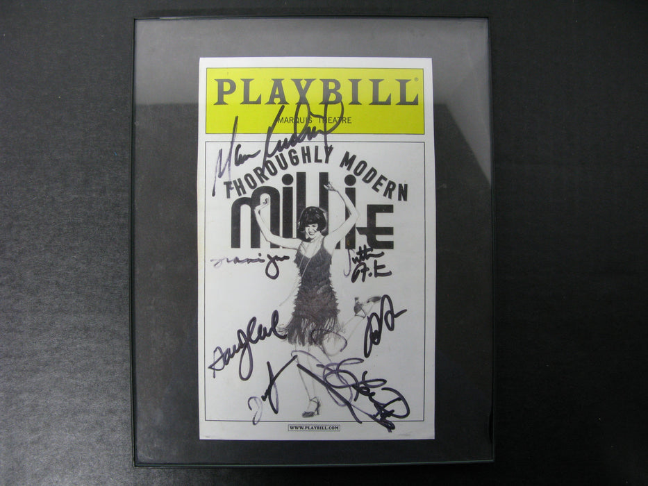 Playbill Signed Marquis Theatre Thoroughly Modern Millie