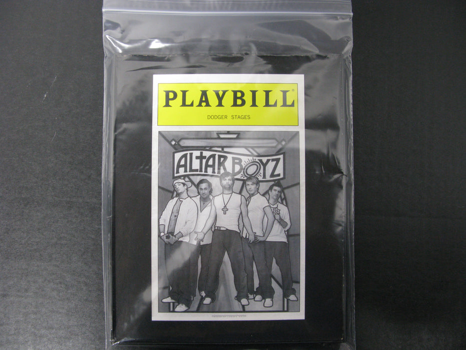 Playbill Dodger Stages Altar Boys Framed Picture
