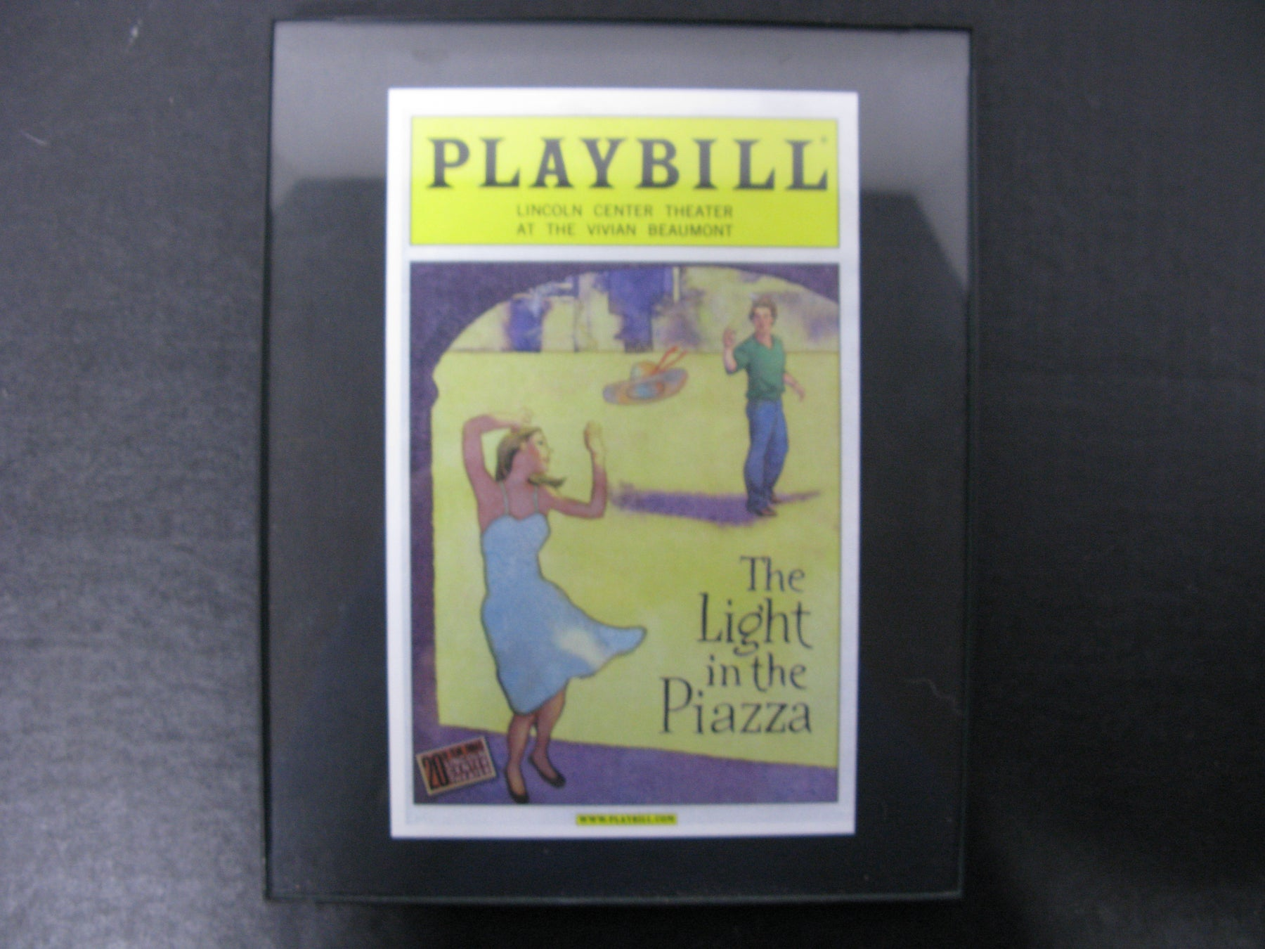 Playbill Lincoln Center Theatre at the Vivian Beaumont the Light in the Piazza