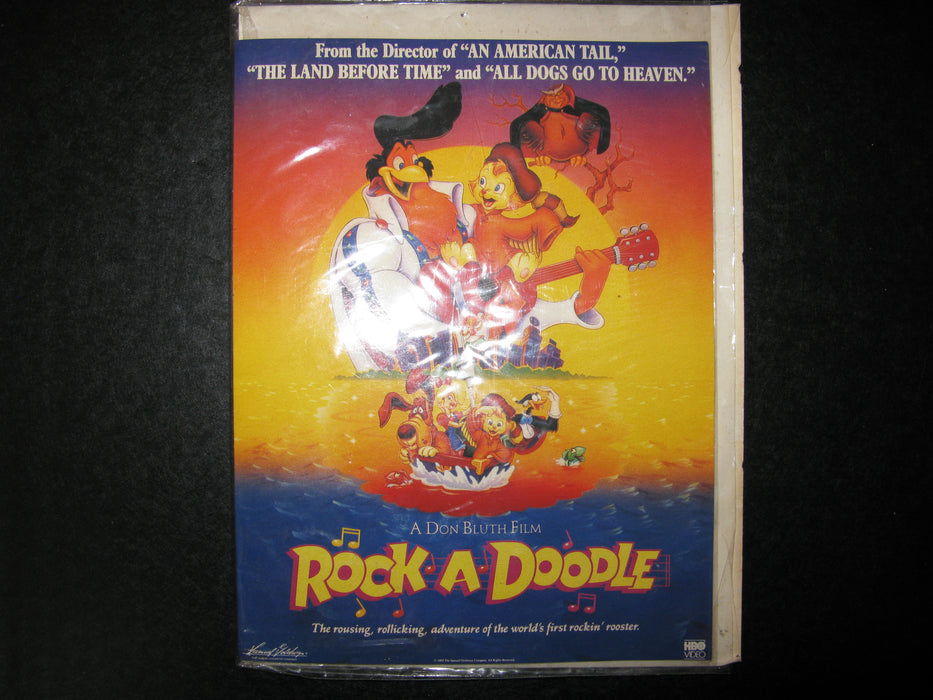 Rock-A-Doodle Card and 3 Posters