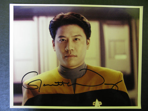 Star Trek Voyager Signed Autograph Photo by Garrett Wang