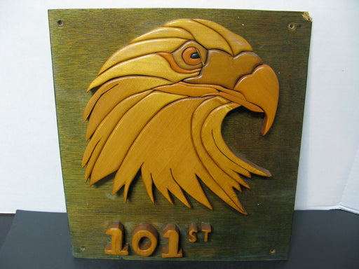 101st Wooden Eagle Sign