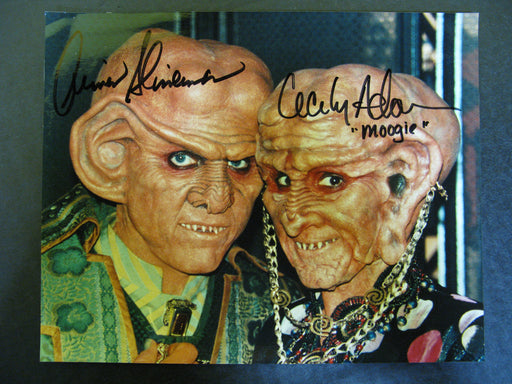 Star Trek Cecily Adams and Armin Shimerman Signed Autographed Photo