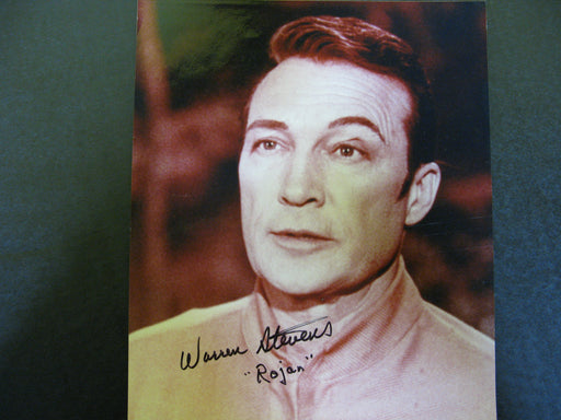 Star Trek Warren Stevens as Rojan Signed Autograph Photo