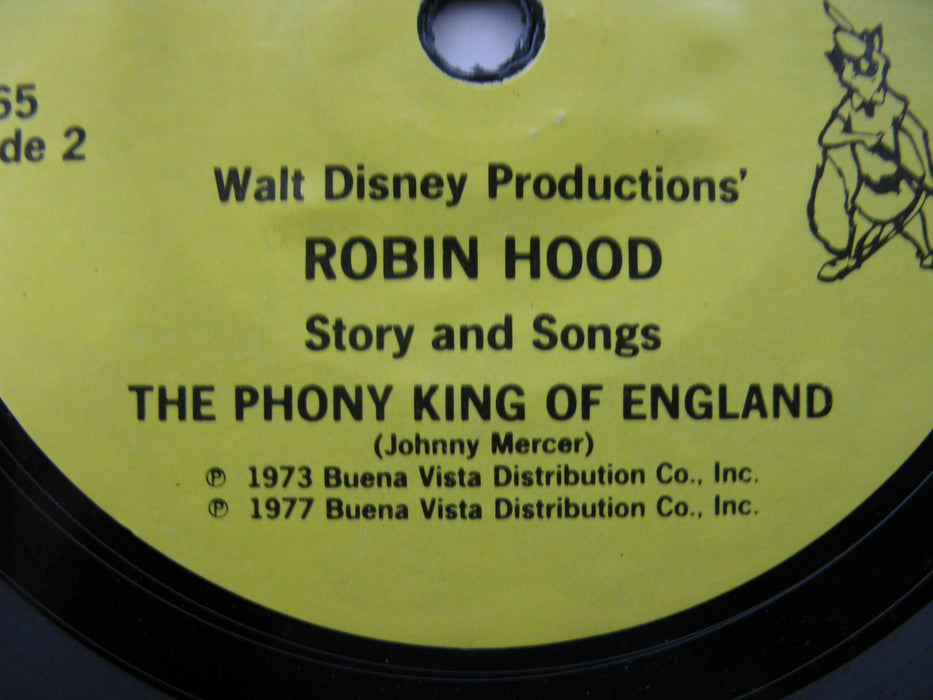 Walt Disney Productions' Story of Robin Hood Book with Record