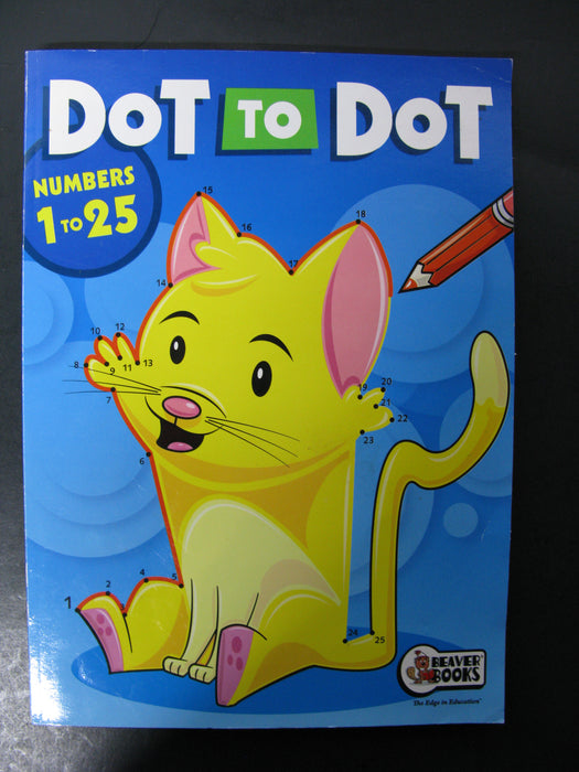 Dot to Dot-Numbers to 25 Coloring Book