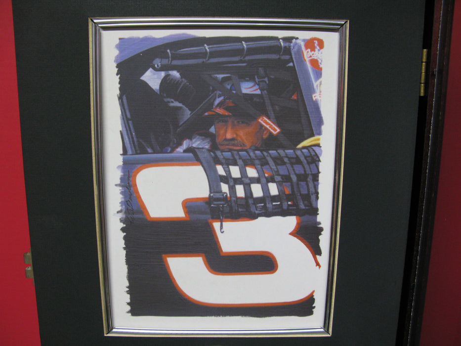 Dale Earnhardt Collectible Wooden Shadowbox Display Case