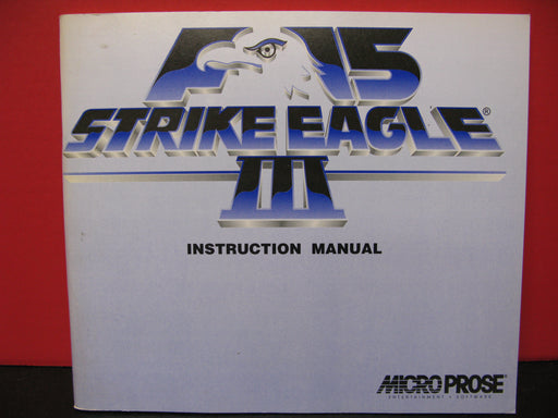 F-15 Strike Eagle III Instruction Manual