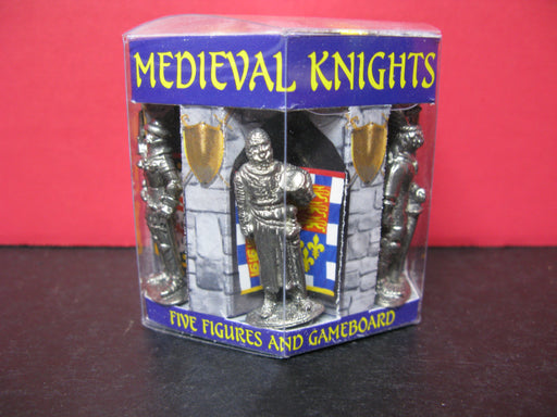 Medieval Knights Five Figurines and Gameboard