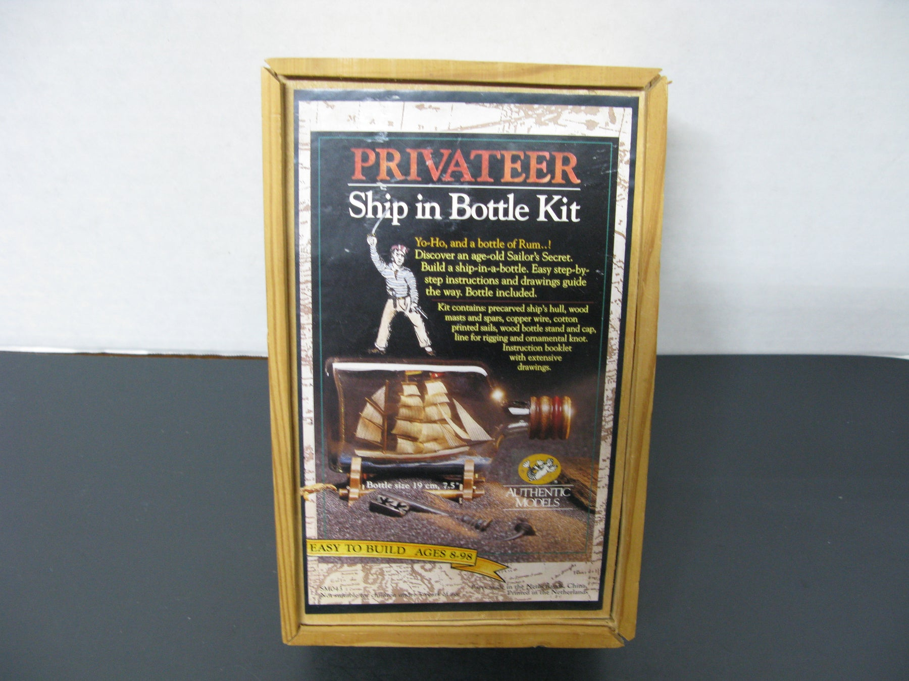 Privateer Ship in Bottle Kit