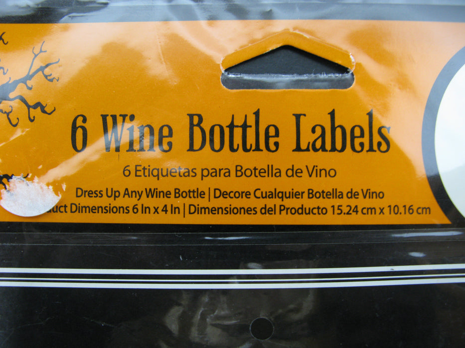 6 Wine Bottle Labels